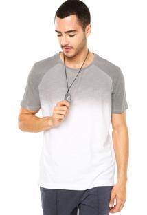 Camiseta Calvin Klein Jeans Tinturado Cinza/Branco