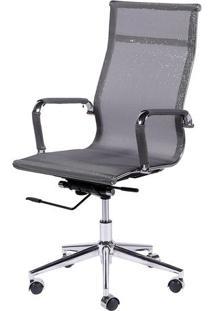 Cadeira Office Eames Em Tela- Cinza- 112X61X47Cmor Design