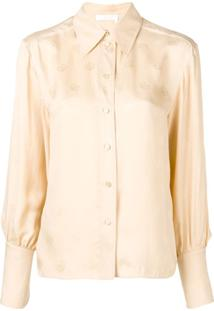 ... Chloé Camisa De Seda Com Bordado - Neutro 74583c4d9da