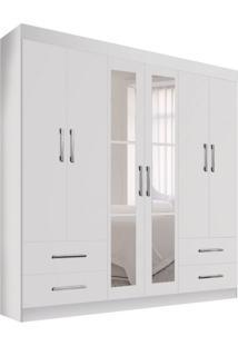 Guarda-Roupa Casal Com Espelho Recife Ii 6 Pt 4 Gv Branco