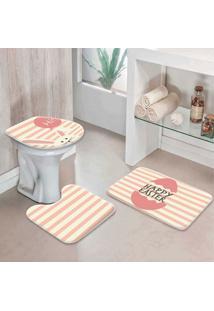 Jogo Tapetes Para Banheiro Páscoa Listras Hi