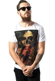 Camiseta Estonada Skull Lab Love Skull - Masculino-Branco