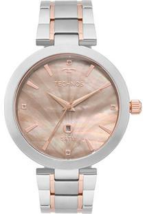 Relógio Technos Analógico Gl10Ie5F Feminino - Feminino-Prata