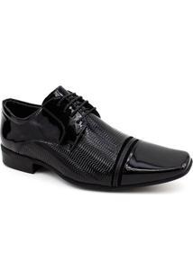 Sapato Social Couro Jotape Air Fergus 71853 Masculino - Masculino-Preto