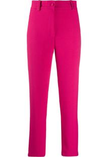 Hebe Studio High-Waisted Tailored Trousers - Rosa