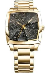 Relógio Technos Crystal Feminino Analógico - 2039Ak/4P 2039Ak/4P - Feminino-Dourado