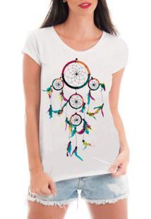 Camiseta Criativa Urbana Rendada Filtro Dos Sonhos Branco