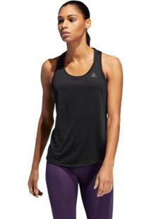 Camiseta Regata Adidas Run-It Feminina - Feminino-Preto