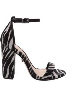 Sandália Gisele Salto Grosso Zebra   Schutz