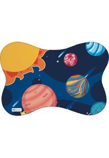 Tapete Pet Mdecore Planetas Azul Marinho 46X33Cm