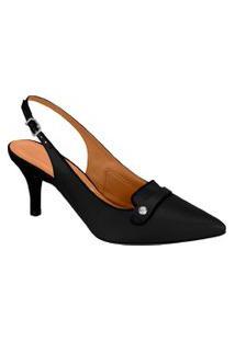 Sapato Scarpin Aberto Vizzano Bico Fino Salto Médio Conforto Fashion Moda Clássico