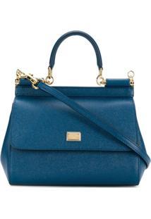Dolce & Gabbana Bolsa Tiracolo 'Sicily' Pequena - Azul
