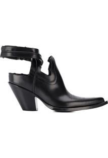 Maison Margiela Ankle Boot Texan Com Recortes - Preto