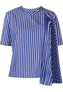 Sacai Blusa Com Recortes - Azul