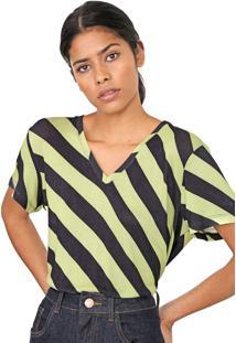 Camiseta Forum Listrada Preta/Verde