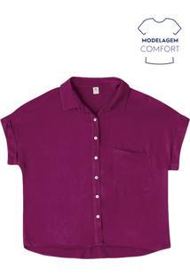 Blusa Feminina Básica Com Bolso Em Tecido De Viscose Hering