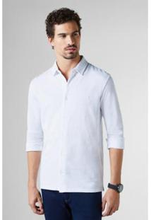 Camisa Listra Piquet Reserva Masculina - Masculino-Branco