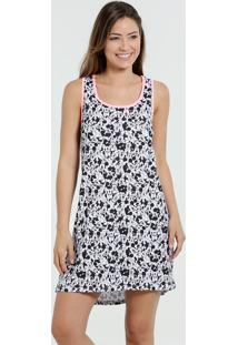 Camisola Feminina Estampa Minnie Mickey Disney