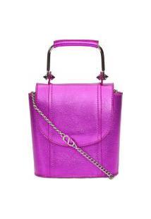 Bolsa Feminina Crossbody Crush Bag Metallic - Roxo