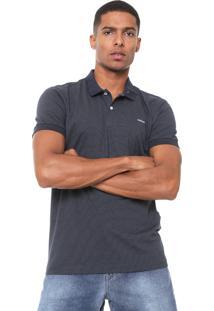 Camisa Polo Colcci Reta Padronagem Azul-Marinho
