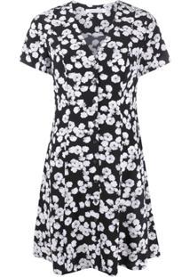 Calvin Klein Jeans Peony Print Mini Dress - Preto