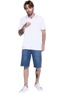 Bermuda Jeans Blue Wash M.Officer Azul