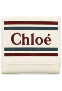 Chloé Carteira Com Logo - Branco