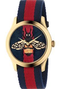 R  4150,00. Vivara Relógio Feminino Nylon De Grife Gucci ... 3f0e7a3609