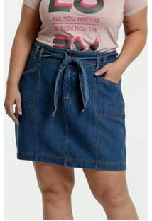 Saia Feminina Jeans Clochard Plus Size Marisa