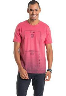 Camiseta Com Efeito Degradê Vermelho Bgo