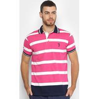 7ce4d63b5d Camisa Polo Aleatory Fio Tinto Listrada Masculina - Masculino
