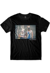 Camiseta Lf Casal Animal Sublimada Masculina - Masculino-Preto