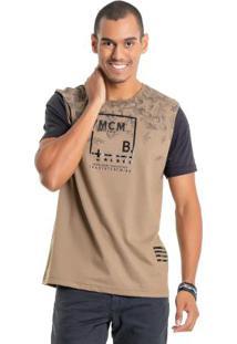 Camiseta Com Foil Marrom Bgo