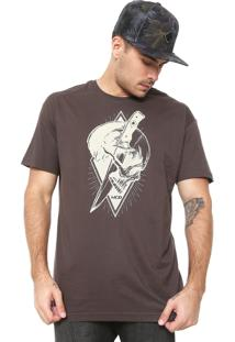 Camiseta Mcd Knife Marrom