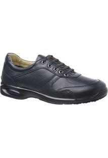 Sapato Casual Couro Floater Doctor Shoes Masculino - Masculino-Marinho