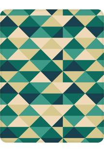 Tapete Love Decor Sala Wevans Triângulos Verdes Único