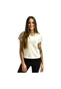 Camiseta Rich Young Gola V Básica Lisa Simples Malha Branca