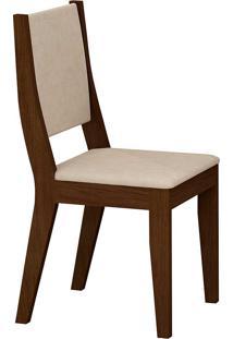 Cadeira Isis - Rufato - Castor / Creme