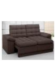 Sofá Confort 1,80M Assento Retrátil E Reclinável Velosuede Chocolate - Netsofas