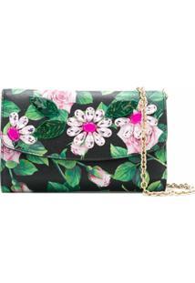 Dolce & Gabbana Clutch Tropical Rose Com Aplicação De Cristais - Preto