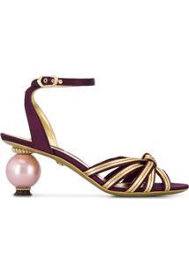 Dolce & Gabbana Sandália Com Salto - Roxo