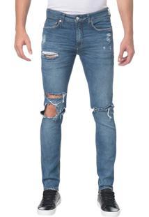 Calça Jeans Five Pocktes Skinny Ckj 016 Skinny - Azul Claro - 36