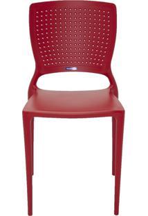 Cadeira Safira Em Polipropileno Vermelho Tramontina