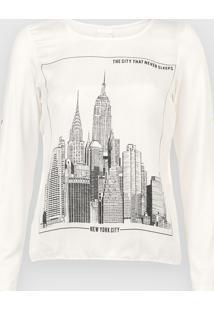 Blusa Enfim New York Off-White - Kanui