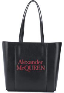 Alexander Mcqueen Logo-Print Tote Bag - Preto