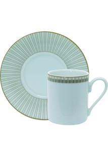 Conjunto De Xícaras Para Café C/ Pires Porcelana Schmidt 06 Peças - Dec. Vera