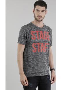 "Camiseta ""Stage Staff"" Cinza Mescla"