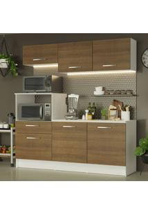 Cozinha Compacta Madesa Onix 180001 Com Armã¡Rio E Balcã£O - Branco/Rustic Branco - Branco - Dafiti