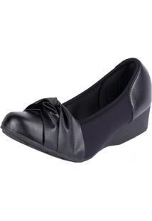 Sapato Modare Anabela Elastico Preto 36
