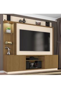 Estante Para Tv Até 65 Polegadas 2 Portas Sinamomo/Off-White - Bechara